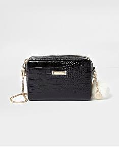river-island-croc-cross-body-bag