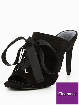 v-by-very-khloe-lace-up-bow-mule-black