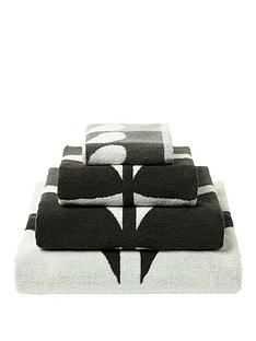 orla-kiely-house-large-stem-pack-of-2-face-cloths-ndash-grey
