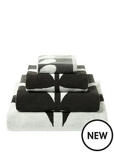 orla-kiely-house-large-stem-pack-of-2-hand-towels-ndash-grey