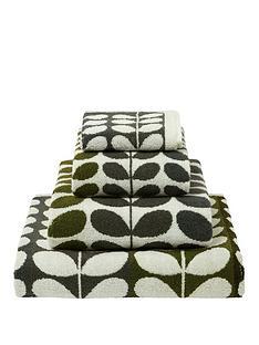 orla-kiely-house-multi-stem-pack-of-2-face-cloths-ndash-moss