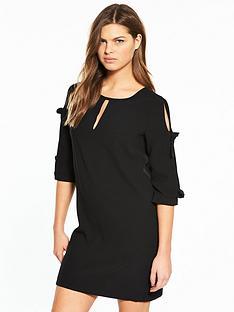 river-island-bow-sleeve-dress--black