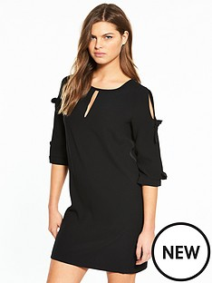 river-island-bow-sleeve-dress--black