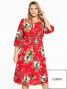 v-by-very-curve-printed-knot-dress-printnbsp