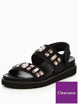 v-by-very-dakota-sporty-embellished-chunky-flat-sandal-black