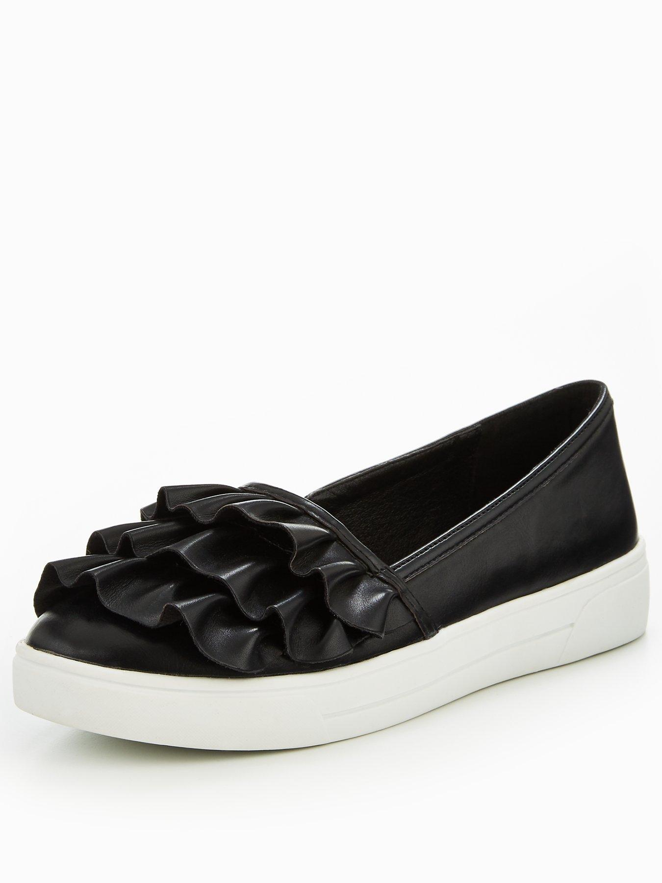 V by Very Dolly Frill Skate Shoe Black