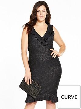 ax-paris-curve-frill-bodycon-dress-black