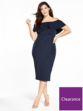 v-by-very-curve-ruffle-bardot-bodycon-dress