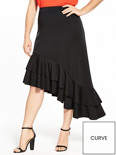 v-by-very-curve-asymmetric-hem-ruffle-skirt