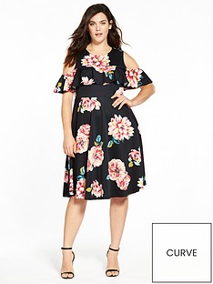 v-by-very-curve-ruffle-cold-shoulder-prom-dress