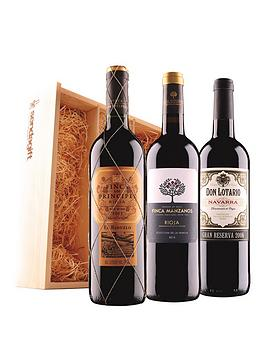 Virgin Wines Virgin Wines Spanish Red Trio In Wooden Gift Box Picture