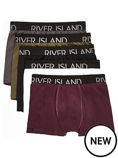 river-island-red-classic-5-pk-trunk