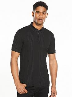 river-island-ss-ribbed-muscle-fit-polo