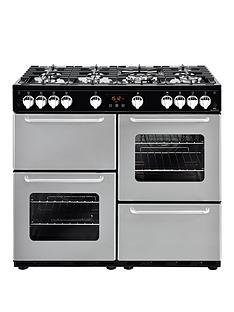 new-world-new-world-nw-100g-100cm-gas-range-cooker-silver-with-connection