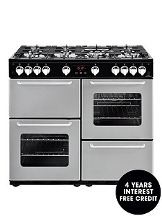 new-world-nw-100g-100cm-gas-range-cooker-silver-with-connection