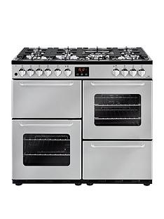 new-world-new-world-nw-100dft-100cm-dual-fuel-range-cooker-silver-with-connection
