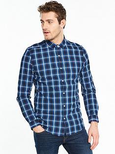 v-by-very-long-sleeve-indigo-check-shirt