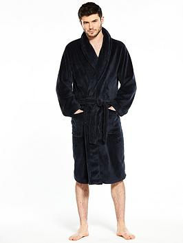 b643ff469d1bd V by Very Supersoft Navy Robe