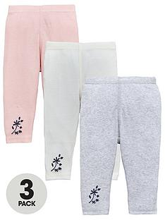mini-v-by-very-baby-girls-3-pack-ribbed-floral-embroidered-leggings