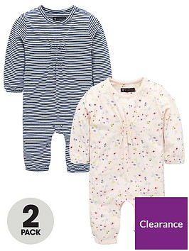 5d3cdaa5a Mini V by Very Baby Girls 2 pack Floral   Stripe Long Sleeved ...