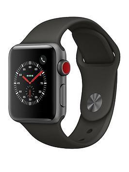 Apple Watch Series 3 Gps Cellular 38Mm Space Grey Aluminium Case With Grey Sport Band cheapest retail price