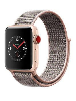 Apple Watch Series 3 Gps Cellular 38Mm Gold Aluminium Case With Pink Sand Sport Loop cheapest retail price