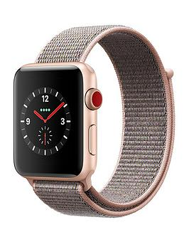 Compare prices with Phone Retailers Comaprison to buy a Apple Watch Series 3 Gps Cellular 42Mm Gold Aluminium Case With Pink Sand Sport Loop
