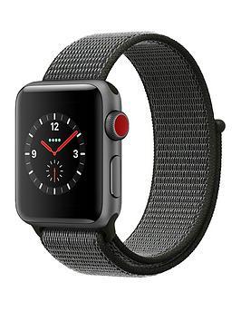 Buy Brand New Apple Watch Series 3 Gps Cellular 38Mm Space Grey Aluminium Case With Dark Olive Sport Loop