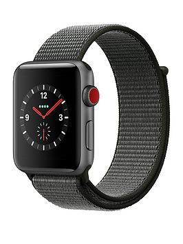Apple Watch Series 3 Gps Cellular 42Mm Space Grey Aluminium Case With Dark Olive Sport Loop cheapest retail price