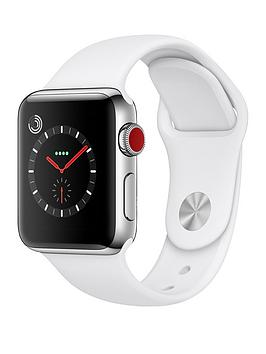 Apple Watch Series 3 Gps Cellular 38Mm Stainless Steel Case With Soft White Sport Band cheapest retail price