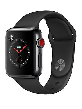 Apple Watch Series 3 Gps Cellular 38Mm Space Black Stainless Steel Case With Black Sport Band cheapest retail price