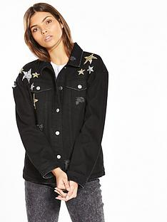 v-by-very-star-embellished-denim-jacket