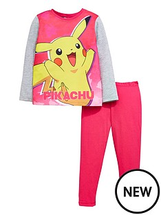 pokemon-pokemon-girls-long-sleeve-pikachu-pyjamas