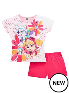 paw-patrol-paw-patrol-girls-shorty-pyjamas