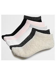 river-island-ziggy-neutral-5-pack-sock