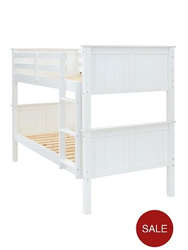 classicnbspnovaranbspbunk-bed-in-grey-or-white-with-optional-mattress-buy-and-save