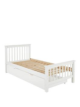 novara-kids-single-bed-framenbspwith-optional-mattress-buy-and-save-ndash-whitenbsp--excludes-trundle