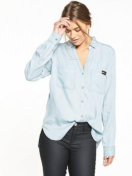 superdry-tencel-shirt-powder-blue