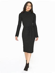 girls-on-film-belted-knit-maxi-jumper-dress-black