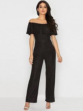 girls-on-film-black-on-black-glitter-bardot-jumpsuit