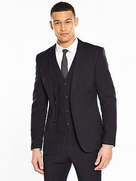 v-by-very-slim-check-suit-jacket-navynbsp