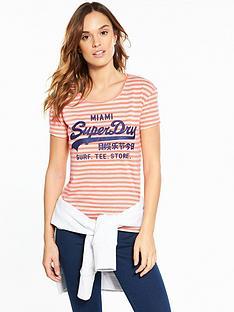 superdry-vintage-logo-stripe-entry-t-shirt-fluoro-coral