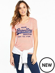 superdry-vintage-logo-stripe-entry-t-shirt-fluoro-coral