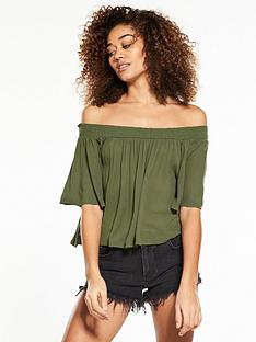 superdry-alia-off-shoulder-blouse-khaki