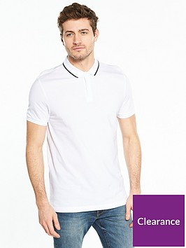 v-by-very-short-sleeve-pique-polo-top-white