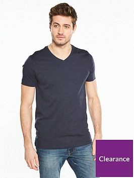 v-by-very-short-sleeve-v-neck-t-shirt-navy