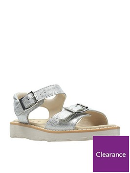 e829f00bebb Clarks Baby Girls Crown Bloom Sandals - Silver