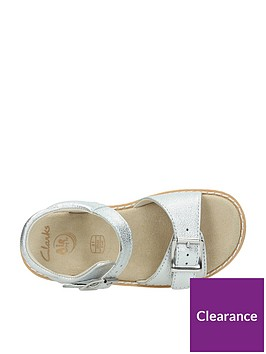 1b40ac42c78 ... Clarks Baby Girls Crown Bloom Sandals - Silver. View larger