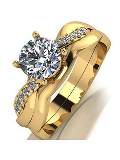 moissanite-moissanite-9ct-gold-110ct-eq-total-ring-set