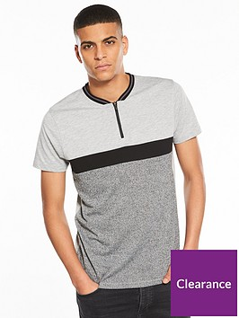 v-by-very-zip-tech-contrasting-fabric-t-shirt